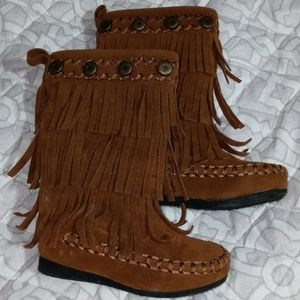 HOT CAKES FRINGED BOOTS